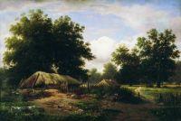 Украинский хутор в дубовом лесу. 1862