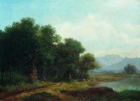 Озеро в горной долине. 1864