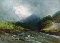 Альпийская река. 1870-е