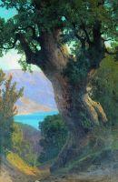 Дерево над обрывом. 1889