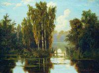 Пейзаж с озером. 1901