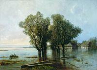 Наводнение в деревне. 1872