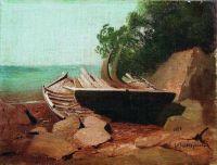 Барки на берегу. 1878