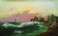 Морской пейзаж. 1870-е