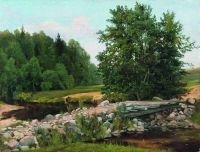 Мостик через речку. Летний день. 1890-е