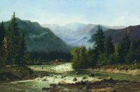 Швейцарский пейзаж. Вторая половина XIX века