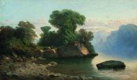Озеро в горах. 1860 – начало 1870-х