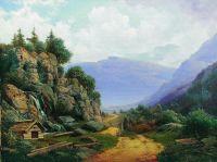 Горный пейзаж. 1860-е