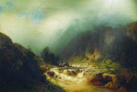 Река в горах Швейцарии. 1870-е