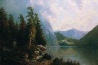 Озеро в горах. 1860-е