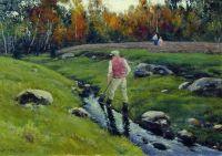 Пейзаж с рабочим у реки. 1901