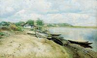 Хутор на Днепре (Рыбачья пристань). 1885