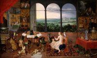 Аллегория пяти чувств. Слух (совместно с Питером Паулем Рубенсом) (1617) (Мадрид, Прадо)