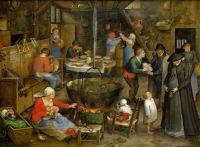 Визит в крестьянский дом (ок.1597) (Вена, Музей истории искусств)