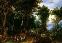 Лесной пейзаж с Авраамом и Исааком (1599) (Токио, Нац.галерея)