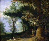 Лесной пейзаж с обращением св Евстафия (частная коллекция)
