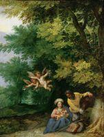 Отдых на пути в Египет (ок.1595) (Вена, Музей истории искусств)