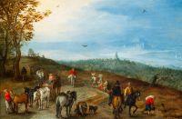Панорамный пейзаж с путешественниками (1608) (17.8 x 27.2) (Франкфурт-на-Майне)