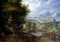 Пейзаж с видом на деревню (1603) (Музей Ганновера)