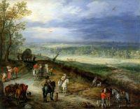 Пейзаж с путниками (1608-1610) (Частная коллекция)