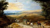 Пейзаж с путниками (совместно с Йосом де Момпером) (Дворец в Поммерсфельдене)