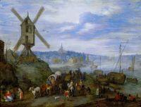 Речная пристань с мельницей (ок.1608) (Париж, Лувр)