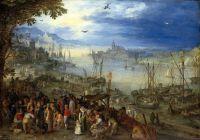 Рыбный рынок на берегу реки (1605) (Мюнхен, Старая Пинакотека)