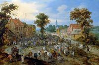 Скотный рынок в деревне (совместно с Яном Брейгелем Младшим) (Частная коллекция)