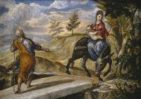 Бегство в Египет (ок.1567) (15,9 x 21,6) (Мадрид, Прадо)