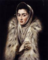 Портрет дамы в меховой накидке (1577-1580) (частная коллекция)