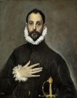 Портрет дворянина, приложившего руку к груди (ок.1580) (82 x 66) (Мадрид, Прадо)