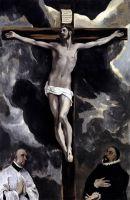 Распятие и два донатора (ок.1590) (Париж, Лувр)_