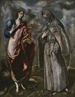 Св. Евангелист Иоанн и св.Франциск (1603) (Мадрид, Прадо)