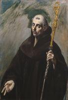 Св.Бенедикт (1577-1579) (116 x 81) (Мадрид, Прадо)