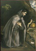Св.Франциск на молитве (ок.1595) (Сан-Франциско, Музей изобр. искусств)