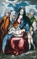Святое семейство со св.Анной и юным Иоанном Крестителем (1595-1600) (73 x 54.6) (Вашингтон, Нац. галерея)