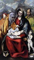 Святое семейство со св.Анной и юным Иоанном Крестителем (между 1586 и 1588) (Толедо, Музей Санта Крус)