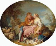 Пастушеская сцена (ранние 1730-е) (61 x 75) (С-Петербург, Эрмитаж)