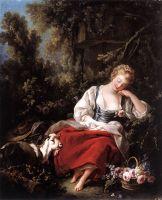 Спящая пастушка (ок.1763) (60 х 47) (Зальцбург, Residenzgalerie)