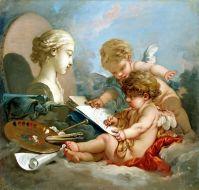 Амуры (аллегория искусства) (1760-е) (82 x 87) (С-Петербург, Эрмитаж)