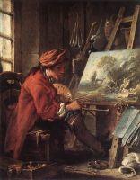 Художник в студии (между 1730 и 1735) (27 ? 22) (Париж, Лувр)