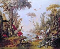 Озеро с птицами из салона Gilles Demarteau (1722-76) (1765)