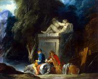 Переправа в брод (1730-е) (59 x 72) (С-Петербург, Эрмитаж)