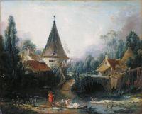 Пейзаж в окрестностях Бовэ (1740-е) (49 x 58) (С-Петербург, Эрмитаж)