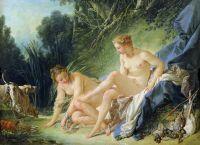 Диана после купания (1742) (Париж, Лувр)