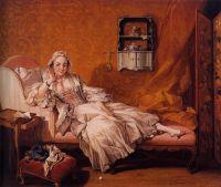 Портрет Мари-Жанне Бюзо, жены художника (1743) (57.2 x 68.3) (Нью-Йорк, Коллекция Фрик)