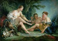 Возвращение Дианы с охоты (1745) (37 х 52) (Париж, Mus?e Cognacq-Jay)
