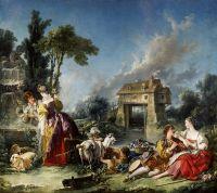 Фонтан любви (1748) (294 х 338 см) (Лос-Анжелес, Музей Пола Гетти)