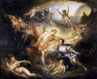 Аполлон, раскрывающий свое божественное происхождение пастушке Иссе (1750) (157,5 x 129) (Тур, Музей изящ.искусств)