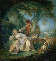 Прерванный сон (1750) (80 х 75) (Нью-Йорк, Метрополитен)